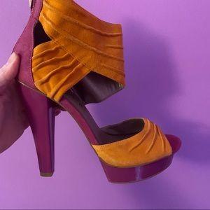 Fergi heels Hot Pink and Orange size 37.5